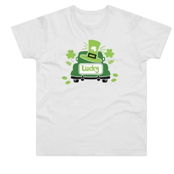 Lucky truck St. Patrick's Day shirt.